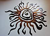 Southwestern Sun Metal Wall Art 17'', 24'' 30'' and 36''
