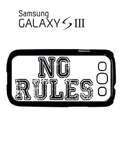 No Rules Rude Fresh Mobile Cell Phone Case Samsung Galaxy S3 White