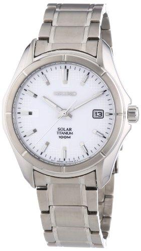(Seiko Men's SNE139 Titanium Watch)