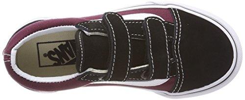 Zapatillas Negro Q7j Old Vans Niños V Skool pop Burgundy Black og Unisex qBTCw4T