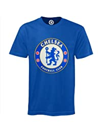 Chelsea Football Club Official Soccer Gift Kids Crest T-Shirt Royal 12-13 Years