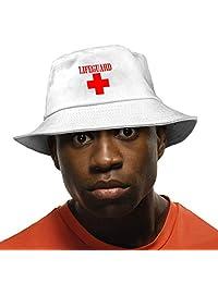 PPAN Lifeguard Gear Logo Unisex Cotton Packable Black Travel Bucket Hat Fishing Cap