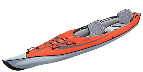 (ADVANCED ELEMENTS AE-1007-R AdvancedFrame Convertible Inflatable Kayak, 15', Red)