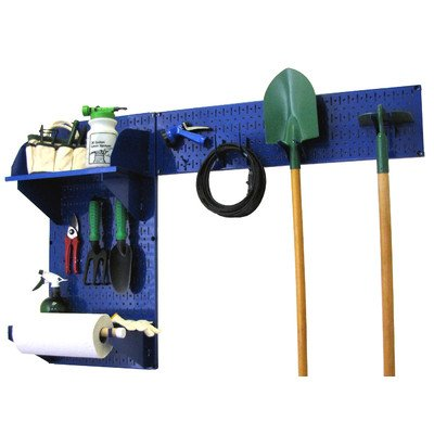 Wall Control 30-GRD-200 BUBU Pegboard Garden Supplies Storage and Organization Garden Tool Organizer Kit with Blue Pegboard and Blue Accessories by Wall Control