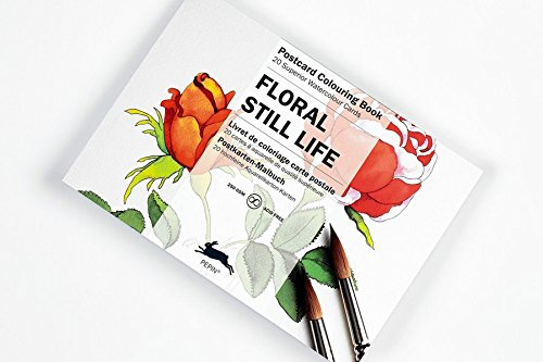 Still Life Flowers : POSTCARD COLOURING  BOOK