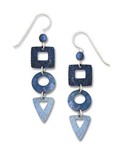 Adajio by Sienna Sky Denim Blue Geometric Cascade Earrings ()