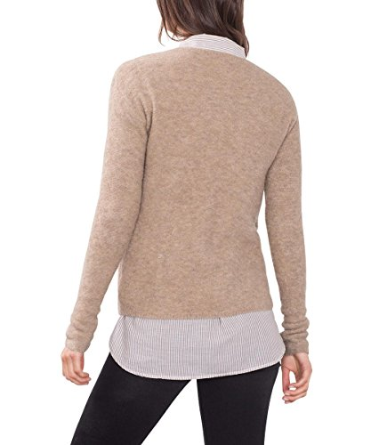 ESPRIT, Suéter para Mujer Marrón (Taupe 5 244)