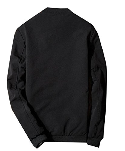 Embroidery Zip Long Men Chinese Jacket Sleeve Black up Simple Style RkBaoye nX5xA0qAO