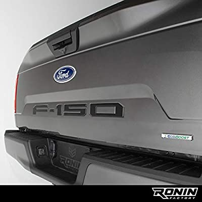 F-150 TAILGATE LETTERS for FORD F150 - THICK PLASTIC by RONIN FACTORY (Black): Automotive