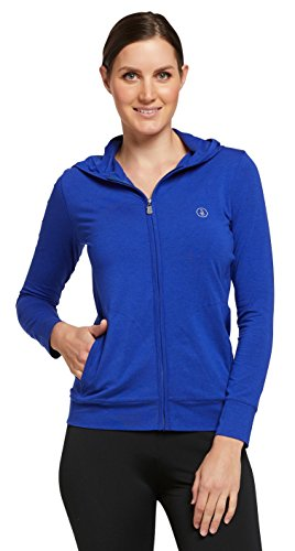 (Solbari Women's UPF 50+ Luxe Zip-Up Hoodie (Sun Protective), X-Large, Blueberry)