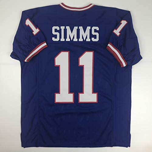 - Unsigned Phil Simms New York Blue Custom Stitched Football Jersey Size Men's XL New No Brands/Logos