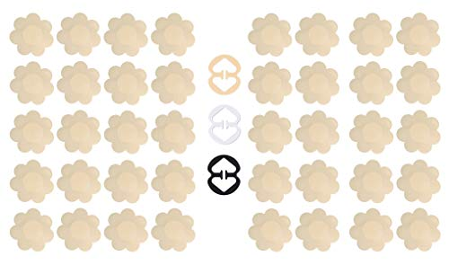Daisyformals 20 Pairs Pasties Satin Nipple Cover Stickers Disposable Breast Petals Flower Shape