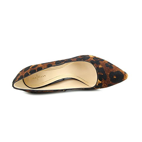 Cole Haan Donna Chelsea Black Heel Pump Woodbury Ocelot Stampa Haircalf Pump 9 B (m)