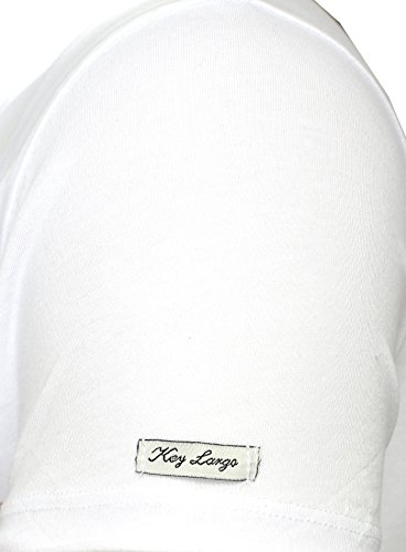 Key Largo Hombres T-shirt ALIVE Vintage Busque Rivet Hände Tattoo Piedras Sommershirt Blanco