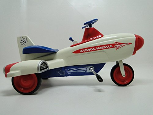 Flash Gordon Rocket (High End Collector Pedal Car Vintage Missile Jet Plane Air Space Craft Rocket Ship Buck Roger 1950 Flash Gordon 1960 Captain Video Era Museum Quality Metal Collectible Not A Toy For A Child To Ride On)
