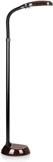 Lampe sur pied à LED ROsch - Lampe de jour protège les yeux - Lampe flexible à économie d'énergie Eichen