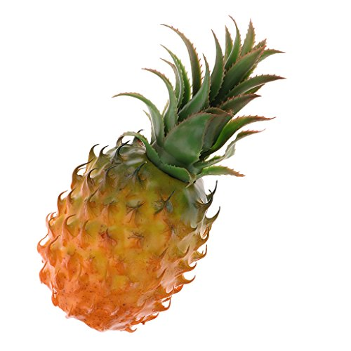 (MagiDeal Tropical Artificial Pineapple Plastic Fruits Cabinet Display Decorative Ornament Decoration Props For Kitchen Home Wedding Party Decor - Foam )