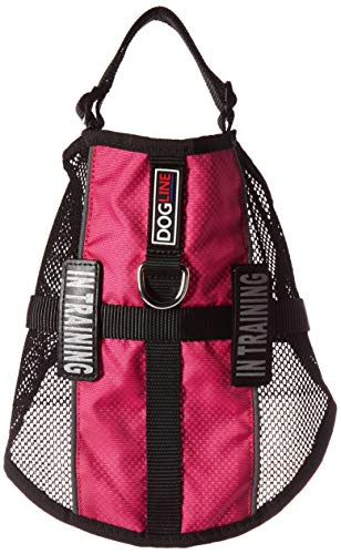Dogline MaxAire Multi-Purpose Mesh Vest for Dogs and 2 Removable in Training Patches, Medium, Pink from Dogline