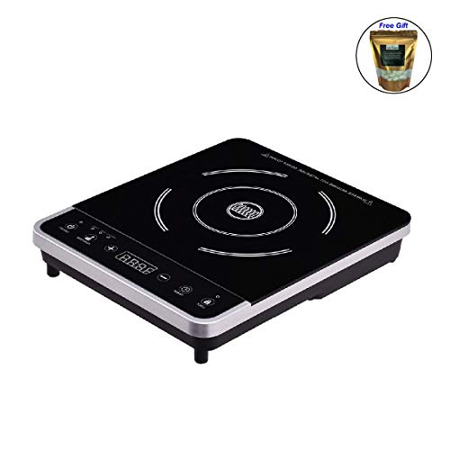 Price comparison product image Electric Induction Cooker Single Burner Digital Hot Plate Cooktop Countertop Only by eight24hours + SPECIAL GIFT Organic Natural Silk Cocoons