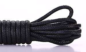 Shoelaces Dress Shoes For Boots Waxed Thin Round Shoe Laces 2 Pair Black 71 (Color: Black, Tamaño: 71(180 cm)- 9 or 10 eyelets)