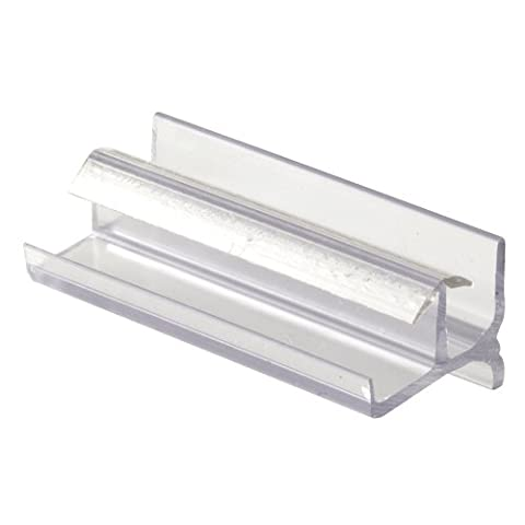 Prime-Line Products 193086 Shower Door Bottom Guide, Clear - Shower Door Bottom Guide
