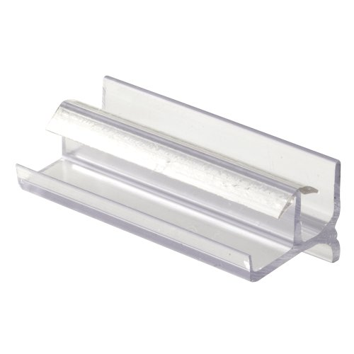 Shower Door Bottom Guide, 3-Inches, Vinyl, Clear, Snap-In Installation - Parts Shower Doors