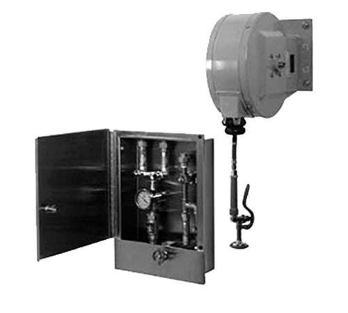 T&S Brass B-2339 Assembly 30-Feet Closed Hose Reel Cabinet with Control Valve and Temperature Gauge by T&S Brass