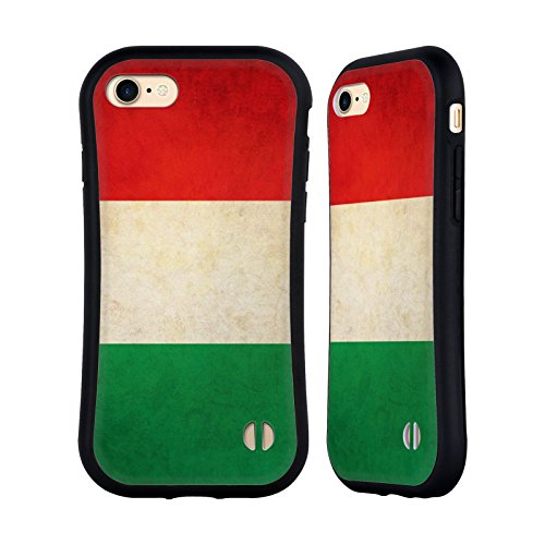 Head Case Designs Italy Italian Vintage Flags Hybrid Case Compatible for iPhone 7 / iPhone 8