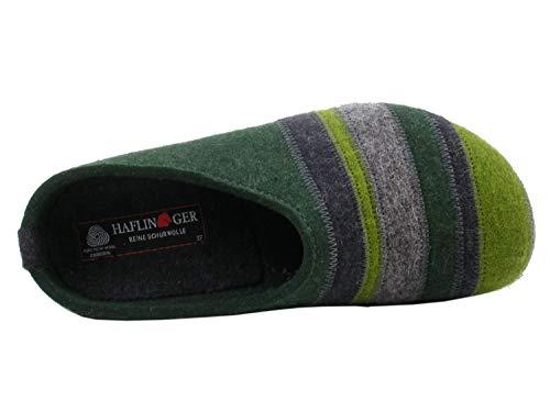 Stripes Pantuflas 63 eibe Para Grizzly Verde Haflinger Mujer S74xTqPw4d