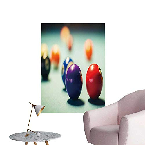 SeptSonne Wall Decorative billiar Balls on a Pool Table Pictures Wall Art Painting,28
