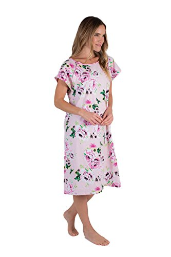 - Gownies - Designer Hospital Patient Gown, 100% Cotton, Hospital Stay (Small/Medium, Amelia)
