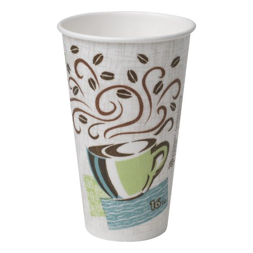 Dixie PerfecTouch 5356DX WiseSize Coffee Design Insulated Paper Cup, Georgia-Pacific, 16oz (Case of 20 Sleeves, 25 Cups per Sleeve) - Perfectouch Coffee Dixie Cup