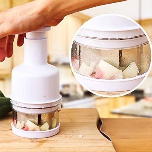Jinxuny Picadora de Verduras Cortadora Cortadora Peeler Cocina Presionando Manual de Alimentos Cortadores de Frutas Cebolla Ajo Cortadora Peeler Dicer Picadora