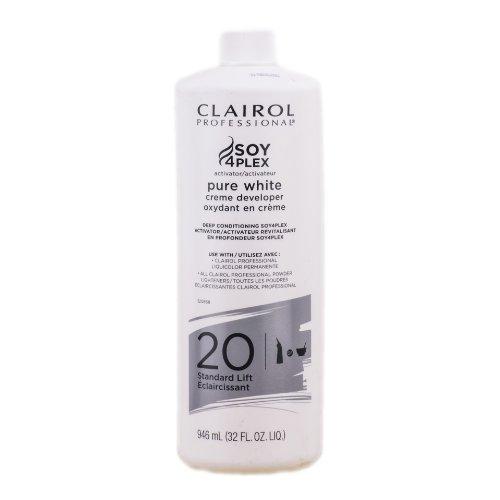 Clairol Soy4plex Pure White Developer 20 Standart Lift 32 Oz by Clairol B00CNZCVX4