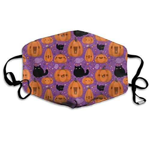 BLongTai Mouth Cover Mask Cute Halloween Cartoon Pumpkin Fashion Anti Dust Half Face Masks ()