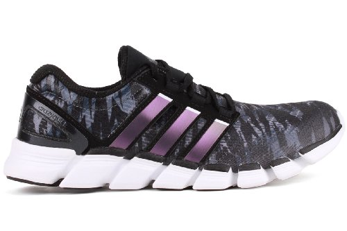 Amazon.com | Adidas Mens Adipure Crazy Quick Running Shoes Black/White/Metallic Lead G97776 Size 10 | Running