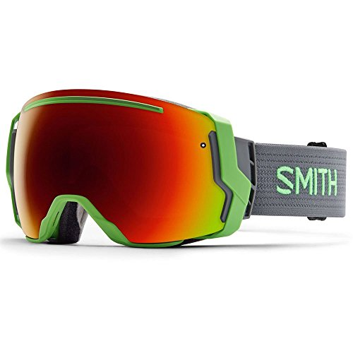 Smith Optics I/O 7 Adult Interchangable Series Snocross Snowmobile Goggles Eyewear - Reactor/Red Sol X Mirror / Medium by Smith Optics