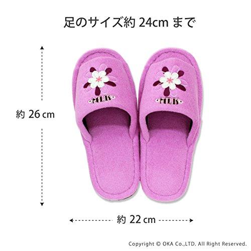 Oka MICHIKO LONDRES modernes pantoufles de fleurs de rose (japan import)