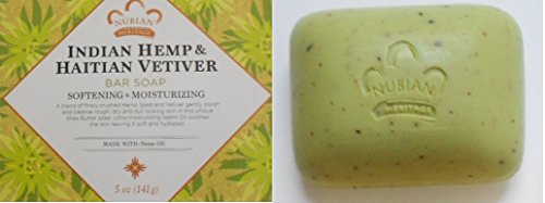 2-Packs-of-Nubian-Heritage-Bar-Soap-Indian-Hemp-And-Haitian-Vetiver-5-Oz