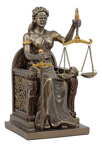 (Ebros Seated Lady Justice Statue 8