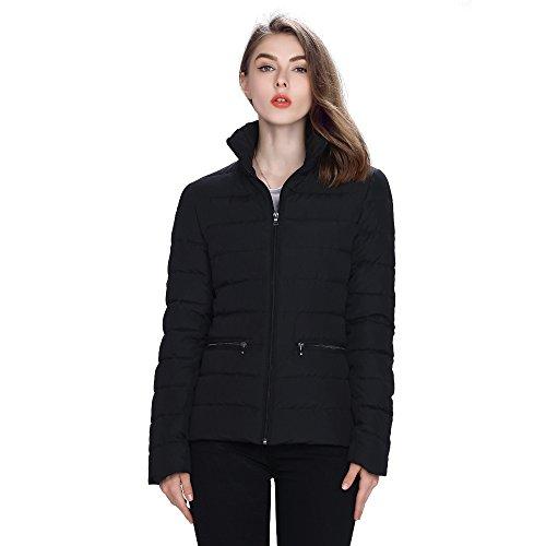 Hoffen Womens Down Jacket Short Coat Black (38) by HOFFEN