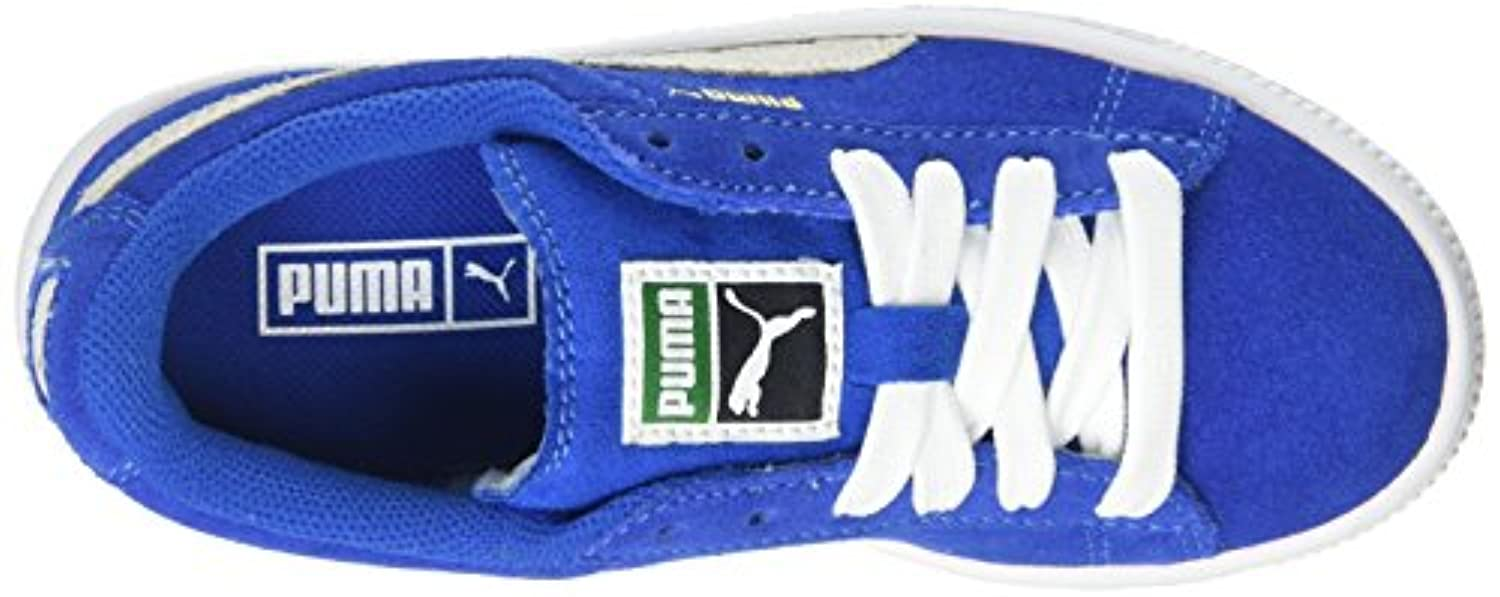 Puma Suede Ps, Unisex Kids' Low-Top Trainers, Blau (SNORK BLUE/W 02SNORK BLUE/W 02), 1 UK