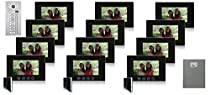 Building Video Intercom Twelve Color Monitors Black 12 Button Kit