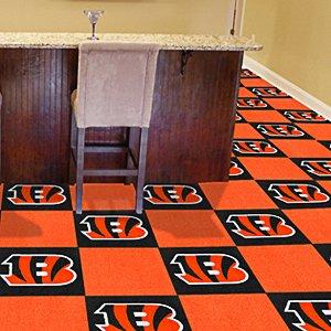 Fanmats Cincinnati Bengals Team Carpet Tiles