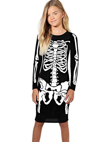 Halloween Little Girls Tunic Dress Crew Neck