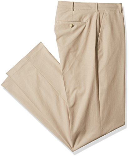 Van Heusen Men's Big and Tall Flex Flat Front Oxford Chino Pant, Khaki, 48W X ()