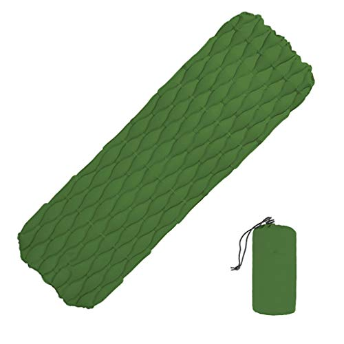 JinJin Sleeping Camping Sleeping Pad - 74 x 23.6 x 2.4 inches Mat, Ultralight 0.88 lb, Best Sleeping Pads for Backpacking, Hiking Air Mattress - Lightweight, Inflatable & Compact, Camp Sleep (green)