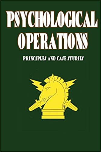 Book Psychological Operations - Principles and Case Studies