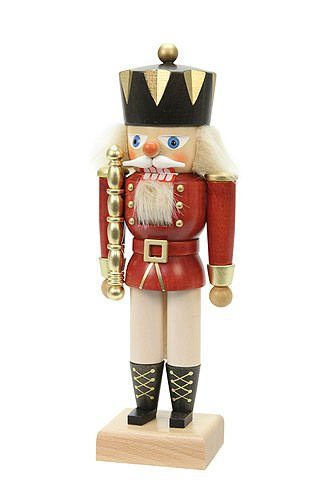 - German Christmas Nutcracker King red - 27,5 cm / 11 inches - Authentic German Erzgebirge Nutcrackers - Christian Ulbricht
