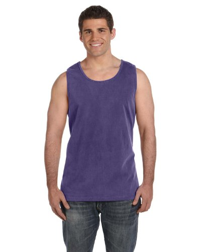 Comfort Colors Ringspun Garment-Dyed Tank, Small, GRAPE